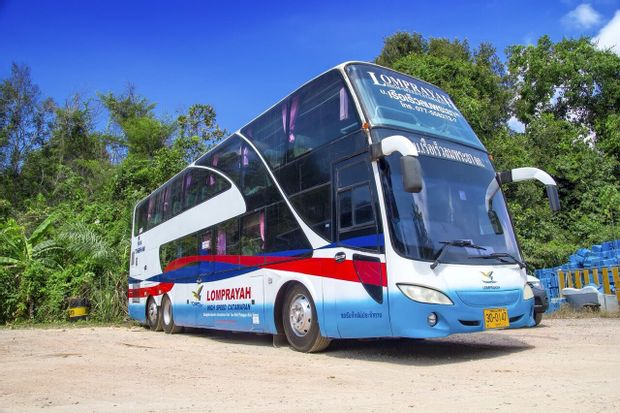 Suratthani to Koh Samui - Standard Bus+Ferry by Lomprayah_0